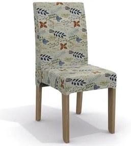 Kit 2 Cadeiras CAD107 para Sala de Jantar Nogal/Folhas Coloridas - Kappesberg