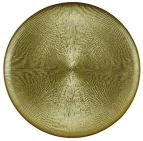 Prato Raso Cristal Dots Dourado 28cm 27766 Wolff