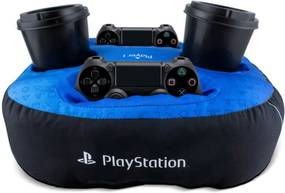 Almofada Porta Controle e Copo Playstation Geek10 - Multicolorido