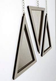 Trio Espelho Triângulo Crie Casa Bege Laca