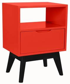 Mesa de Cabeceira On Vermelho - Wood Prime MP 221057
