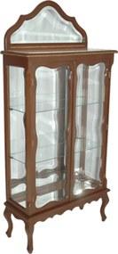 Cristaleira com Interior Espelhado Estilo Vitoriano - 159x74x29cm