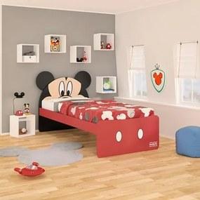 Cama Infantil Mickey Disney Plus Vermelho/Preto - Pura Magia