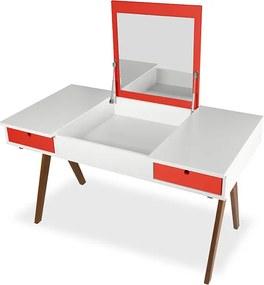 Escrivaninha Delacroix Branca e Vermelha