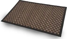 Tapete de Bambu Quadriculado - Tamanho ( 50cm X 80cm) - Cor Chocolate