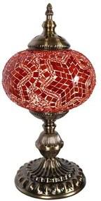 Abajur Mosaico Estilo Turco Vermelho 37cm
