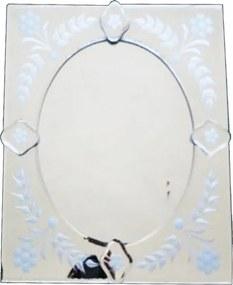 Espelho Veneziano Pequeno Quadrado com Peças Sobreposta