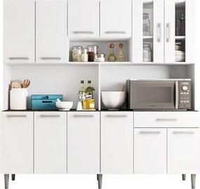 Kit Cozinha Compacta Clara 12 Portas Branco - Poliman