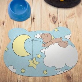 Tapete PET Mdecore Urso Urso Azul54x39cm