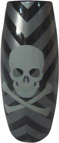 Vaso Reel Dark Skull Preto em Cerâmica - Urban - 30x13 cm