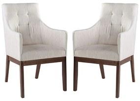 Conjunto 2 Cadeiras de Jantar Grécia Com Braço - Wood Prime MF 15389