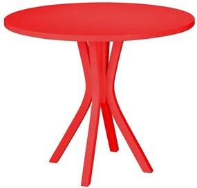 Mesa de Jantar Klaus em Madeira Maciça - Vermelho