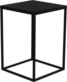 Mesa de Centro Eliza em Aço Carbono - Preto 58cm