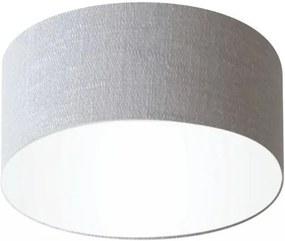 Plafon Cilíndrico Md-3010 Cúpula em Tecido 30x12cm Cinza - Bivolt