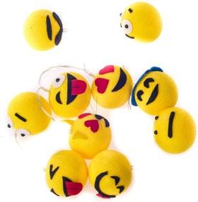 Luminária Decorativa Emojis - Pilha Cormilu Amarelo