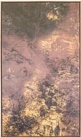 Tela Ouro em Canvas - 60x90cm - Moldura Natural  Kleiner Schein