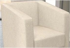 Poltrona Decorativa Valéria com Pés em PVC Suede Amassado Bege - JS Móveis