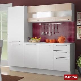 Cozinha Compacta 7 Portas Lara G200695lmm Branco - Madesa