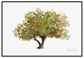 Quadro Decorativo Figurativo Arvores da Vida Corticeira Verde e Marrom - CZ 44113