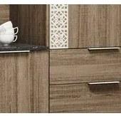 Kit Cozinha New Space 6 Portas Carvalho Rust Nicioli