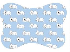 Tapete PET Mdecore Osso Urso Azul54x39cm