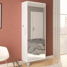 Sapateira 1 Porta Com Espelho Itú Branco BP - Politorno