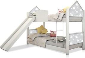 Beliche Infantil Casinha Prime Nuvem Cinza com Escorregador CASAH