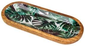 Travessa De Madeira Leafage 30x12x2,5cm 26683 Bon Gourmet