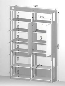 Closet guarda roupa 1 Arm. c/espelho e prateleiras Branco TX / Espresso 9012 CLOTHES