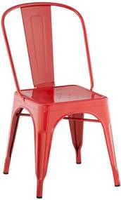 Cadeira Iron Tolix Francesinha Vermelha