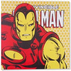 Quadro Tela Com Led Marvel Homem De Ferro