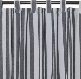 Cortina Black & White Listras de 2,40 x 2,80 m