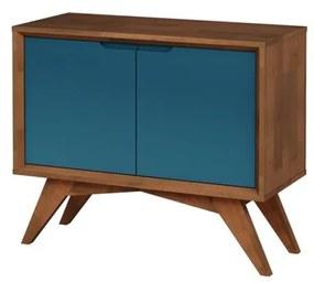 Buffet Uriel 2 Portas Pinhão e Azul - Wood Prime MP 27567