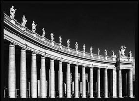 Quadro Decorativo com Moldura Preta Basílica de São Pedro em Roma 70x50cm