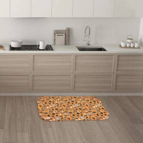 Tapete de Cozinha Mdecore Diversos Laranja 40x60cm