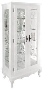 Cristaleira Clássica com Espelho 2 Portas e Prateleiras Pés Luis XV - Biomóvel 45070