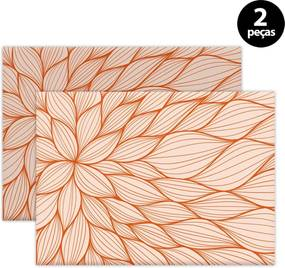 Jogo Americano Mdecore Floral 40x28cm Laranja 2pçs