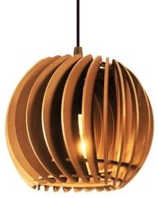 Pendente de madeira | 21x19cm | Caramelo | Mod: Tulipa