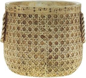 Vaso Decorativo de Cimento Palha Marcel G