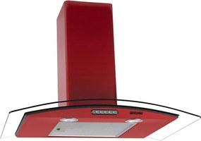 Coifa em Vidro Curvo Slim Vermelho de 75 cm - 220 Volts