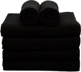 Toalha de Rosto Para Salão de Beleza Plaza - 40x60cm - Preto