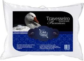 Travesseiro Pluma de Ganso Premium 50x70cm Casa Dona 200 Fios Branco