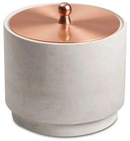 Pote de Cimento C/ Tampa - Rose Gold