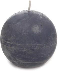 Vela em Forma de Bola Azul - 16 Horas - Pequena - 6,5x6,5 cm