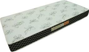 Colchão Espuma Confortex D20 Solteiro 78x188x12 Branco/Preto Plumatex