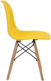 Cadeira infantil Eiffel s/Braço Amarela Base em Madeira Rivatti Móveis