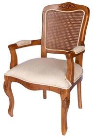 Cadeira Bourbon c/ Braço - Encosto com palha - Freijó Provençal Kleiner Schein
