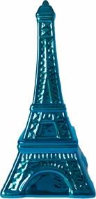 Cofre cerÂmica metalizado - torre eiffel azul