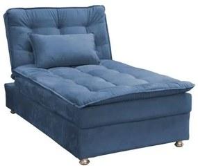 Sofá Cama Chaise 1 Lugar Penelope - Azul pena