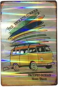 Placa Refletiva 3d De Metal Kombi The Endless Summer